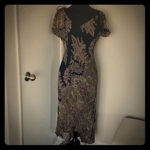 CDC 100% rayon sequin paisley dress 10